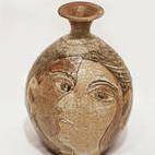 "<b>Face Pot</b><br/> Marguerite Wildenhain, 1970s<a href=""http://farm1.static.flickr.com/781/23315801180_3ff6b5fb85_o.jpg"" title=""High res"">∝</a>"