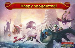 Snoggletog Wallpaper 2 [2016] (LudiaGames) Tags: christmas snoggletog hiccup toothless astrid stormfly holidays riseofberk howtotrainyourdragons dragons snow winter