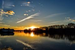 Sunset (robinlescroart) Tags: avignon rhône sunset péniche couché de soleil beautiful water ciel