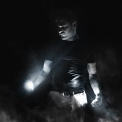 Second son (Lune Noire Creation) Tags: noir et blanc black white second son infamous photoshop light lampe