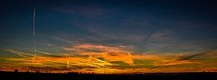 sunset one more time... (Inga P.) Tags: nature beautiful lines clouds sky horizon panoramic sunset