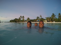 Our new Tuvalu friends had a swim every night!