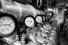 This is the engine room (- Guilherme Magalhães -) Tags: submarine engine room sala maquinas marinha brazil brasil motor diesel riachuelo s22 submarino rio janeiro gauges clocks cylinder cilindros