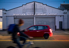 Collision (Jamie Manley) Tags: night berkeley bike shattuck laundromat street