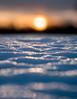 warm sun on cold snow (marianna_a.) Tags: p3090466 warm sun setting sunset cold blue yellow orange gold snow landscape bokeh hbw bokehwednesday mariannaarmata