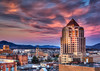 Tufted Twilight - Roanoke Sunset (Terry Aldhizer) Tags: tufted twilight roanoke sunset dusk evening sky clouds city buildings hotel conference center tower wells fargo higher education terry aldhizer wwwterryaldhizercom