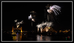 Fireworks_9203 (bjarne.winkler) Tags: 2016 new year evening pre fireworks 9pm backdrop tower bridge ziggurat calstrs building sacramento river ca