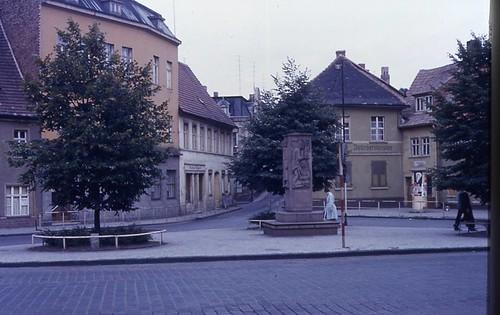 Hettstedt - Marktbereich m. Straße zur Breite (alte Ansicht)