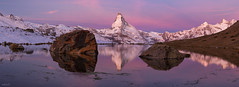 Morning Mood At Stellisee (fotoRschaffer) Tags: matterhorn stellisee swissalps wallis zermatt colorful dawn daybreak earlymorning landscapephotography mirror mountainlake outdoorphotography panoramicview reflection ridges rocks snowymountains summits sunrise water switzerland swissness nature cervin schweizeralpen suisse svizzera schweiz farbenfroh catchycolors dämmerung tagesanbruch alainschaffer fotorschaffer frühmorgens landschaft spiegel spiegelung bergsee gipfelundgrate panorama felsen wasser natur schneeberge berggipfel hochalpin sky himmel berge