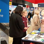 Young student and parent discovering careers in the NHS