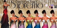Diamond-Tears-Supremo-by-Wild-Orchid (Wild Orchid Haute Couture) Tags: ladies women fashion bridesmaid people trending style designer formal ballroom gowns dresses lingerie shoes hair maitreya slink hourglass tmp belleza jazzstyle jazz