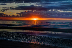 Its here! (21mapple) Tags: sun sunrise hilton head hiltonhead outdoors outdoor outside out beach sand sea ocean water waterscape landscape clouds warm blue yellow