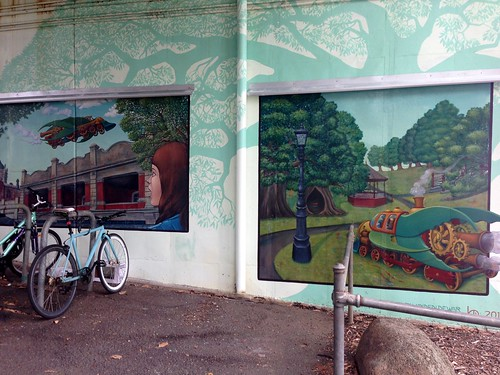 Murals under Canterbury Railway Station