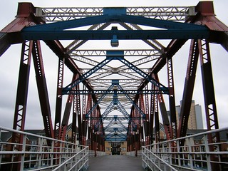 Salford Quays - twin track swing bridge