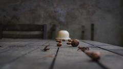 #10 Nuts (toletoletole (www.levold.de/photosphere)) Tags: still stillleben stilllife nuts nüsse table tisch fluchtpunkt vanishingpoint