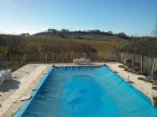 November pool, Domain La Poujade, Caylus
