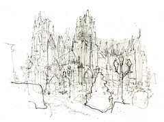 metz cathedral (_jondixon) Tags: architecture france building sketch drawing pencil urban cathedral gothic heritage europe usk