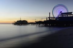 Twilight (remiklitsch) Tags: sunset santamonica pier longexposure blue nikon remiklitsch ferriswheel amusementpark sand sea mare beach evening march