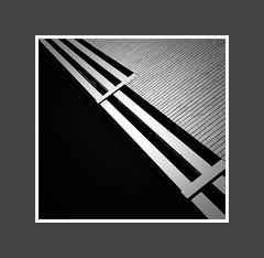 Cutting Edge Detailing (architekt2) Tags: white black brick architecture over angles falling voids
