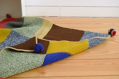 Manta (Mi Mitrika) Tags: tricot manta lã pompons quadrados arraiolos zagal 100lã