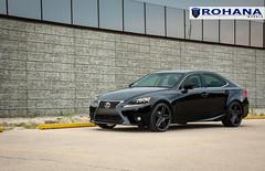 Lexus IS250 - RC8 Matte Black (1) (Rohana Wheels) Tags: wheels toyota rims concave lexus trd luxurycar rohana is250 lexusis250 rc8 luxurywheels fsport rcseries rohanawheels