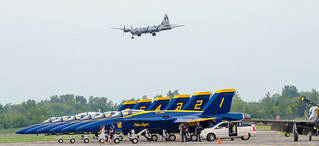 B29 Superfortress FiFi Over Blue Angels