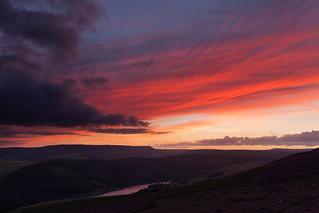 Afterglow Above Derwent Valley