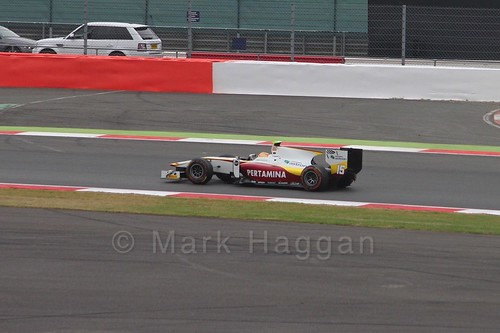 Rio Haryanto in the GP2 Sprint Race at the 2015 British Grand Prix