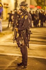 Oakland 2010 (Thomas Hawk) Tags: california usa oakland riot gun cops unitedstates unitedstatesofamerica protest police cop chp gasmask eastbay riots fav10 californiahighwaypatrol oscargrant oaklandriots johannesmersehle oaklandca070810 oaklandriots2010