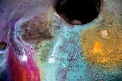 light and color games in water (Malvi Segre) Tags: light color water fountain experiment drain