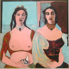 John D. Graham, Two Sisters, 1944, MOMA (Sharon Mollerus) Tags: newyork unitedstates moma museumofmodernart fc