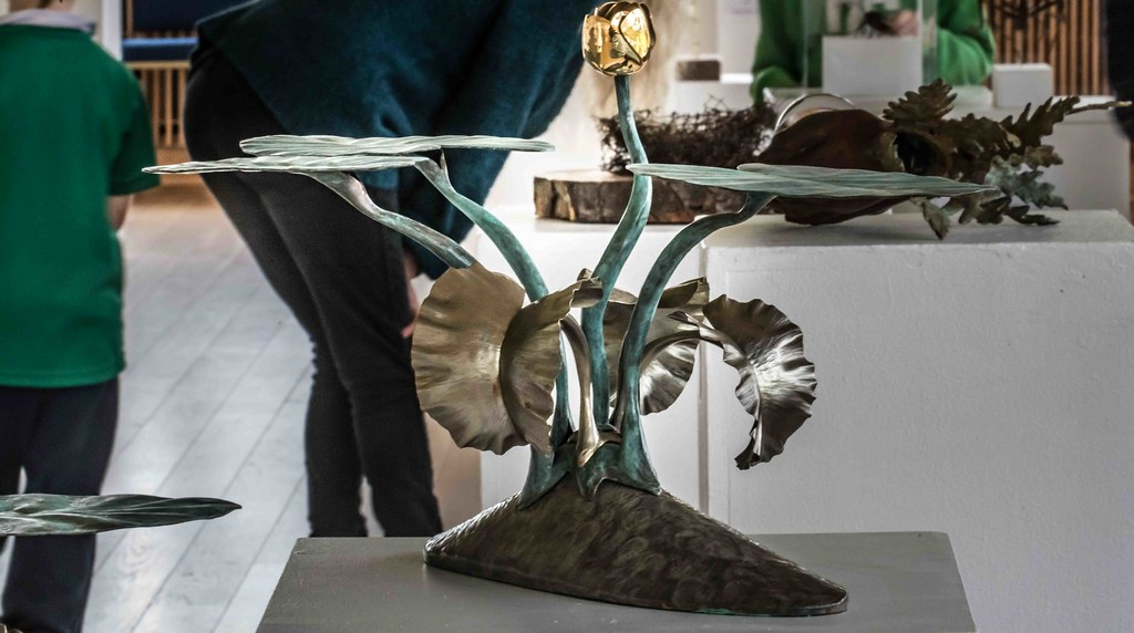 WATERLILIES BY SEAMUS GILL [SCULPTURE IN CONTEXT 2015] REF-10805355