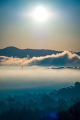 PhoTones Works #7199 (TAKUMA KIMURA) Tags: sea cloud sun mountain nature japan clouds sunrise landscape scenery olympus       okayama kimura em1    takuma    photones