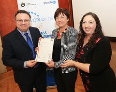 Claire Hughes from Soiree Society NI at the WorldHost Celebration and Certificate Presentation