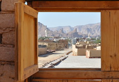 Mada'in Saleh village through a window (kineky1) Tags: wood window village saudi arabia saleh madain