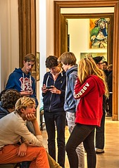 renovated Picasso Museum (albyn.davis) Tags: people paris art museum teenagers teens picasso