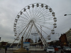 The Big Chakra (Wheel) arrives in Jubilee Square Leicester 2015 016 (KiranParmar) Tags: square jubilee leicester ferriswheel 2015 thebigwheel wheeloflight