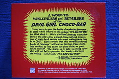 Devil Girl Choco-Bar Display Box Bottom (Donald Deveau) Tags: robertcrumb devilgirl chocobar