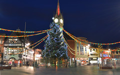 Leicester Christmas Tree (lcfcian1) Tags: christmas tree tower clock nikon leicestershire leicester christmasdecorations nikond3200 leicesterclocktower leicesterchristmasdecorations leicesterchristmastree