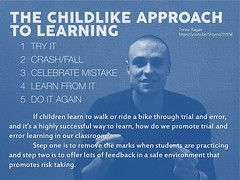 Educational Postcard: A child's approach to learning - trial and error (Ken Whytock) Tags: grit engagement child failure learning fail childlike doitagain trialanderror