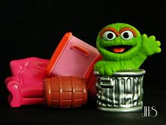 I Love Trash (bosko's toybox) Tags: sesamestreet oscarthegrouch