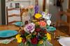 thanksgiving table (jojoannabanana) Tags: thanksgiving colors table colorful diningroom fiestaware dinnerware cabbageflower