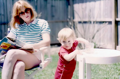 Carol and Christopher Edwards - 18 Months - April 1984 (ataribravo1) Tags: texas tx christopher houston 1984 carol april months 18 edwards boswell