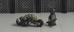 Mitsuhide and his Buell XC Vulture (01) (F@bz) Tags: bike lego motorcycle akira cyberpunk