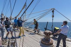 Raising the anchor minute by minute on Christian Radich (Ingunn Eriksen) Tags: christianradich raisinganchor tallship tallshiprace2016 portugal