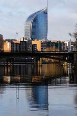 Tour des Finances (Liège 2016) (LiveFromLiege) Tags: liège liege luik lüttich liegi lieja tourdesfinances spf ourthe reflection reflet architecture city wallonie belgique