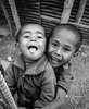 Joy is the best makeup (vivid_ray) Tags: joy enjoy enjoyment enchanting life lovely love child children brother beautiful beauty bangladesh glee playing play kids bw black white monochrome simple joly joyful amazing happy face real urban village city