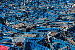 Blue boats at Essaouira Port, Morocco (Abhi_arch2001) Tags: blue boat anchor many harbour port essaouira morocco moroccan dock moored