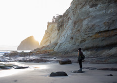 Cape Kiwanda (TheColorsBleed) Tags: cape kiwanda lookout state park oregon coast ocean fog coastal forest waves sea seagreen mist pollution beauty nature sunset seagrass seagulls reflections pnw pacificnorthwest pacific north west northwest dusk lightbeams light beams