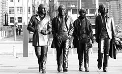 #Monochrome #Beatles Albert Dock Liverpool (Leshaines123) Tags: beatles black white albert dock tourist shot liverpool john lennon paul macartney composition rule thirds exposure canon eos street art statue figures model